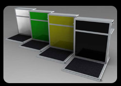 Framelock portable counters displayed in White, Green, Yellow and Black Colours