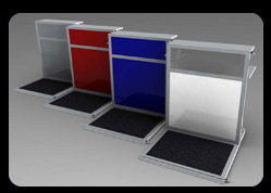 Portable counter tops in Grey, Red, Blue and White Colours